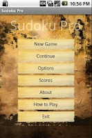 Screenshot of Sudoku X - Brain Training game
