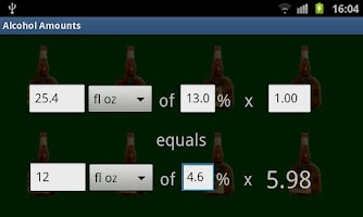 Screenshot of Alcohol Amount Converter
