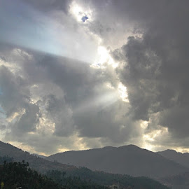 Divine Light by Kiran Nasir - Landscapes Travel ( clouds, nature, scene, scenery, landscape, rays, wonderful,  )