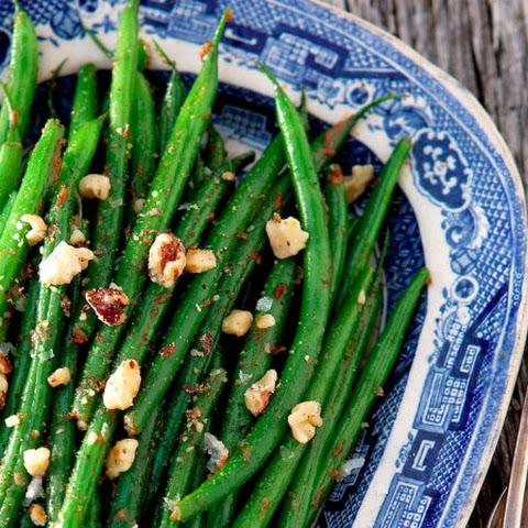 French Green Beans With Walnut Miso Butter