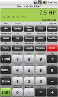 Screenshot of Electrical Calc Elite Electric