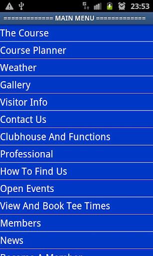 Pwllheli Golf Club App 2015