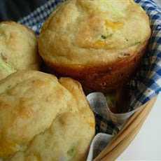 Cheesy Courgette and Bacon Muffins