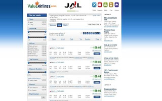 Screenshot of Value Airlines Flights Compare