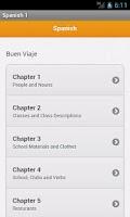 Screenshot of Spanish 1 Vocabulary