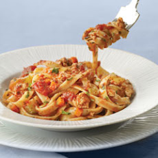 Fettuccine With Turkey Bolognese Sauce