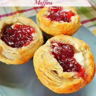Cherry Cream Cheese Danish Muffins
