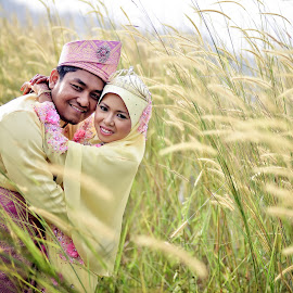 Di & Dayah by Caownphotography Shahrol - Wedding Bride & Groom ( love, wedding, bridegroom, couple, loving )