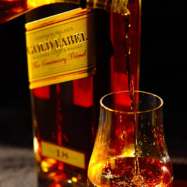 Golden Scotch by Marc Wahrer - Food & Drink Alcohol & Drinks ( food and drink, scotch, alcohol, johnnie walker )