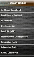 Screenshot of Bosnian Radio Bosnian Radios