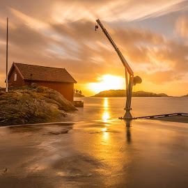 By the sea by Magnus Østebrød - Landscapes Sunsets & Sunrises ( sony, a99, skadberg, sunset, magma, geopark, zeiss )