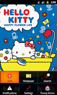 Hello Kitty Happy Bathe Theme - screenshot