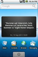 Screenshot of Unnützes Wissen Widget - BETA