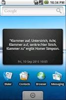 Screenshot of Unnützes Wissen Widget - BETA