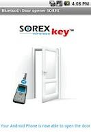Screenshot of Bluetooth Door opener SOREX
