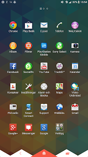 XPERIA™ Triflat Theme Screenshot