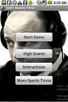 Screenshot of Joel's Hockey Trivia