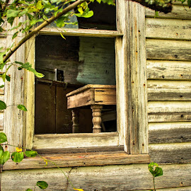 Window to the Past by Lou Plummer - Artistic Objects Furniture ( wood, window, nc, table, house, north carolina,  )