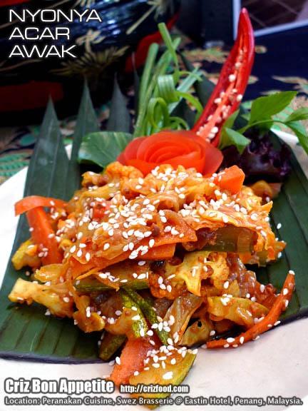 Nyonya Acar Awak (娘惹阿渣泡菜) @ Swez Brasserie - Malaysia Food ...