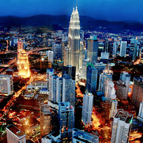 KL nightscapes by Woo Yuen Foo - City,  Street & Park  Night (  )