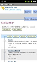 Screenshot of WVU Law Library