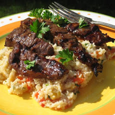 Moroccan Beef With Honey Spice Couscous