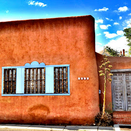 New Mex Style by Roberts IV - Buildings & Architecture Homes ( home, southwestern, window, blue, new mexico )