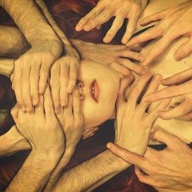 Feeling.so.very.strange by Maurizio Philippy - Digital Art People ( surrealism, moody, conceptual, portrait, feelings )