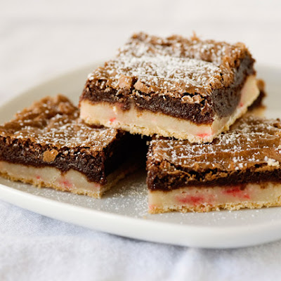 Peppermint Brownie Bars