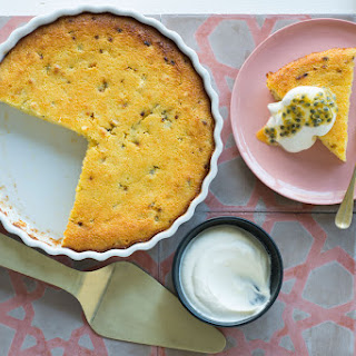 Impossible Coconut And Passionfruit Pie