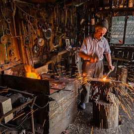 Titi, the galaxy creator by Costin Fetic - People Professional People ( journalism, work, people, portrait, love, blacksmith, story, life, portraits, working, passion, man, blacksmithery )