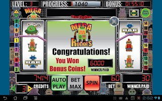 Screenshot of Mega Robots Slot Machine