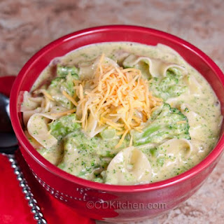 Slow Cooker Broccoli Cheese Noodle Soup