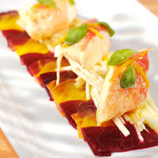 King Crab with Celeriac, Apple, and Beet Salad