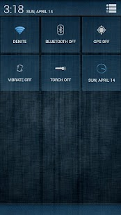 Acid Rain Blue CM11/AOKP Theme - screenshot
