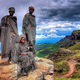 Sani Pass - Lesotho by Ferdinand Veer - People Group/Corporate ( colors, sani pass, lesotho, landscape, ferdinand veer )