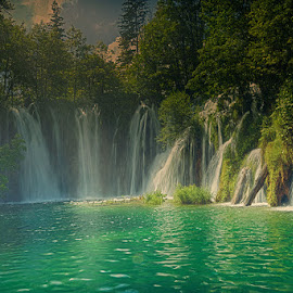 Water coming from everywhere by Radu Eftimie - Landscapes Waterscapes ( plitvice, croatia )