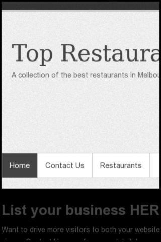 Top Melbourne Restaurants