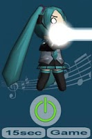 Screenshot of Miku flashlight