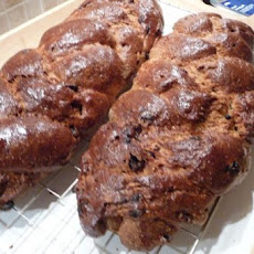 Finnish Sweet Cardamom Raisin Bread (Pulla)