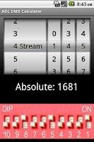 Screenshot of ADL DMX Calculator