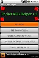 Screenshot of Pocket Tabletop RPG Helper