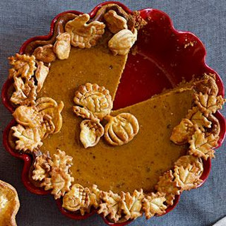 Pecan Pumpkin Butter Pie with Cinnamon-Caramel Sauce