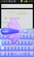 Screenshot of Simple Silk GO Keyboard