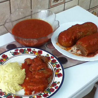 Meatloaf (Albondigon) in Tomato Sauce