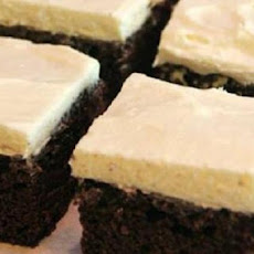 Triple Chocolate Brownies with a Cinnamon Cream Cheese Icing
