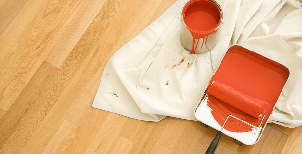 red paint. perfect for nice smooth plastered walls
