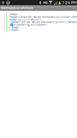 Screenshot of View Web Page Source Code