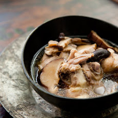 Chicken Soup with Ginger and Shiitake Mushrooms