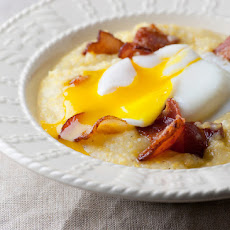 Eggs with Creamy Bacon Grits